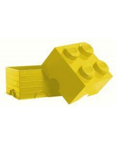 LEGO storage brick 4 - Bright Yellow