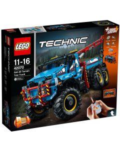LEGO Technic 42070 Robust tauebil med 6-hjulsdrift
