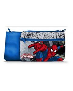 Spider-Man toalettmappe 24x15 cm - blå