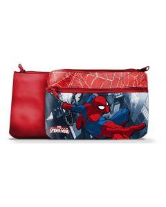 Spider-Man toalettmappe 24x15 cm - rød
