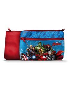 Avengers toalettmappe 24x15 cm - rød