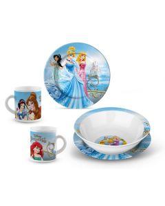 Disney Princess middagssett i porselen - 3 deler