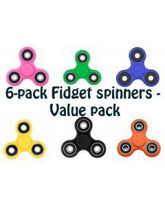 6-pack med Fidget spinner - value pack