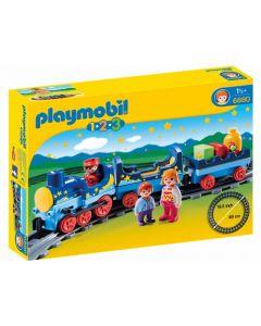 Playmobil 1.2.3 Natt-tog med skinner 6880