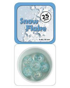 Klinkekule 25 mm - Snow flake