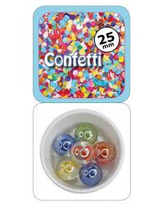 Klinkekule 25 mm - Confetti