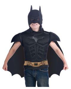 Batman t-skjorte med maske og kappe - 4-6 år
