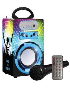 Party karaoke høyttaler med bluetooth og mic