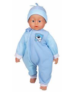 Lissi 56 cm myk dukke - blå
