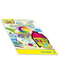 Tegneblokk selvlysende A4 - 50 ark