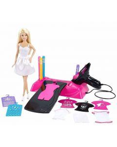 Barbie dukke og Airbrush Studio lekesett