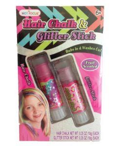 Hår- og Glitter Stick - rosa