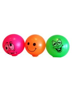 Plastball med Smiley - assortert