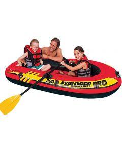 Intex 2-mannsbåt med årer og pumpe