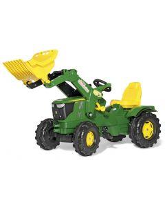 RollyToys Farmtrac John Deere 6210R - plasthjul