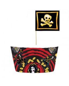 Kaptein Sabeltann 8 muffinsformer og 24 sjørøverflagg