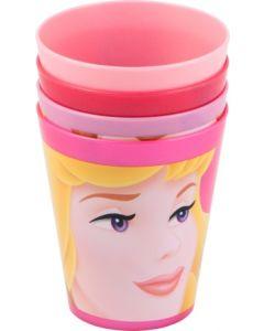 Disney Princess juiceglass i plast 4stk.