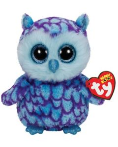 Ty Oscar blue/purple owl regular - 15 cm