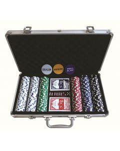Pokersett med 300 chips - komplett sett