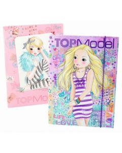 Top Model strikkmappe - A4