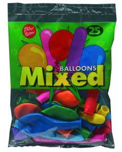 Ballonger flerfarget - 25stk.