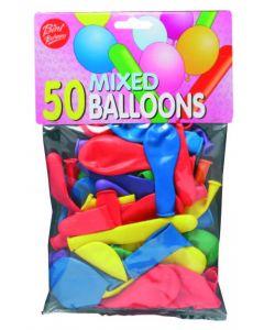 Ballonger flerfarget - 50stk.