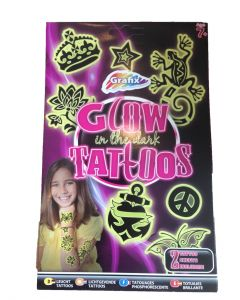 Glow tattoos til jenter