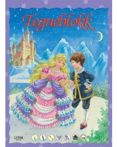 Prins og prinsesse - tegneblokk 64 ark