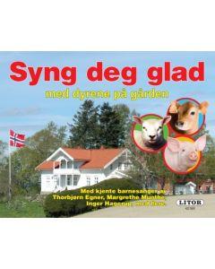 Syng deg glad med dyrene på gården - pekebok med vers og sanger