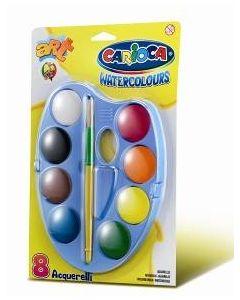 Carioca vannmaling - 8 farger med pensel