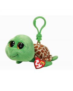 Ty Zippy green turtle clip - 13 cm