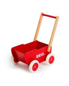BRIO dukkevogn og lær-å-gå vogn i tre