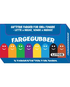 Fargegubber - 8 Fargestifter for barn