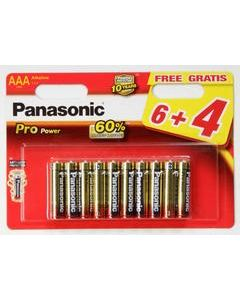 Panasonic batterier AAA - 10 pakning