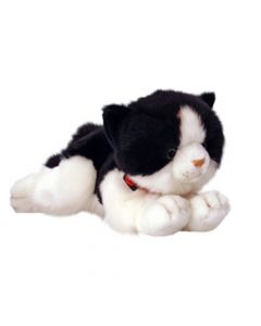Keel Toys liggende katt - sort