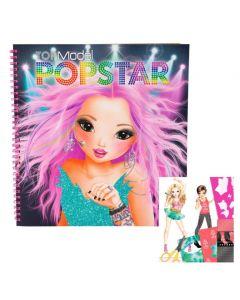 TOPModel ringperm malebok - create your popstar