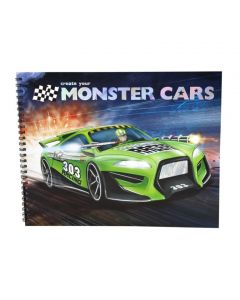 Monster Cars malebok