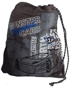 Monster Cars gymbag - grå