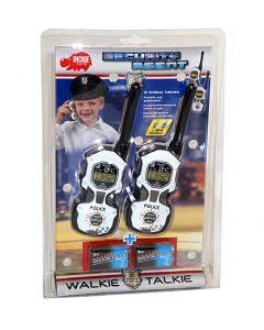 Politi walkie-talkie - batterier inkl. - 80m rekkevidde