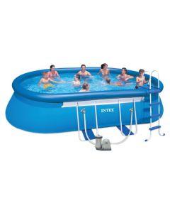 Intex ovalt basseng - 549x305x107 cm