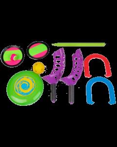 Strandspill - 5 ulike spill i sekk