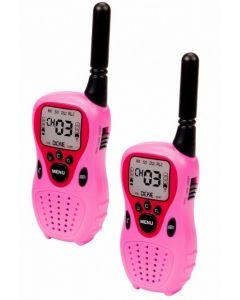 Rosa walkie talkie - batterier inkl. - rekkevidde 80m