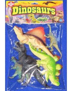 Dinosaursett - 5 stk i pose