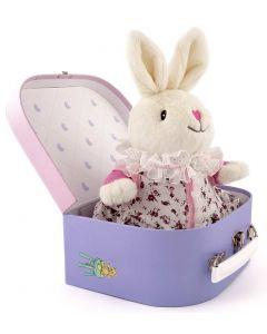 Frøken Kanin 19 cm og pysjamas i koffert