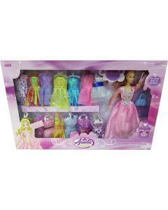 Dukkekjolesett 15 kjoler - 29 cm