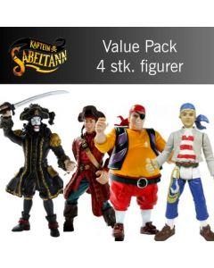 Kaptein Sabeltann value pack - 4 figurer inkludert