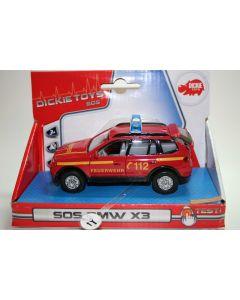 Majorette BMW X3 - brannbil - skala 1:43
