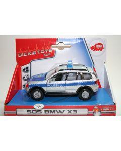 Majorette BMW X3 - politibil - skala 1:43