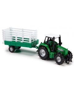 Majorette traktorsett grønn - 18 cm