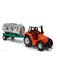 Majorette traktorsett oransje - 18 cm